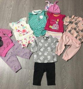 Вещи на девочку 3-12 месяцев