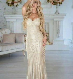 Вечернее платье из страз