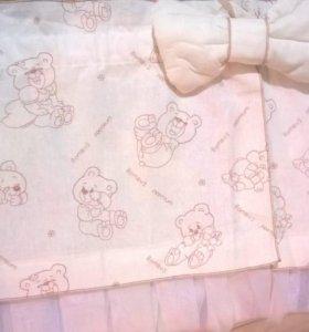 Бортики,балдахин,одеяло.