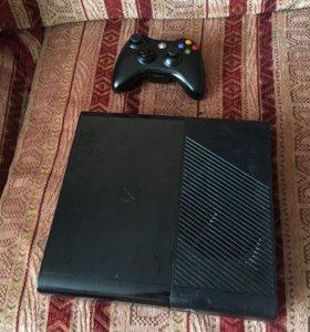 Xbox 360 чёрный+8 игр