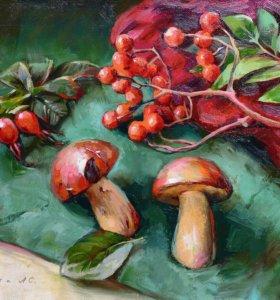 Картина «Дары осени», 35х50 см (холст, масло)