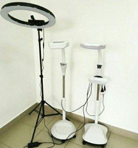 Лампа лупа светодиодная напольная