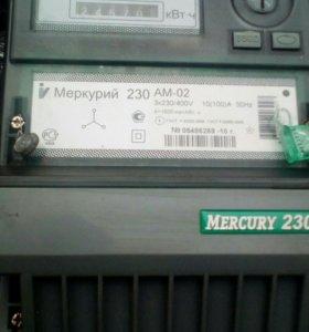 Счетчик меркурий 230.  3х230/400v  10(100)А нz