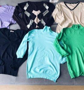 Фирменные блузы и свитера 48-50