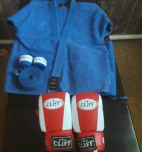 Кимоно+ перчатки Cliff +бинты (Торг)