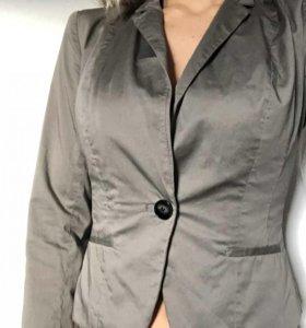 Пиджак приталенный H&M серый