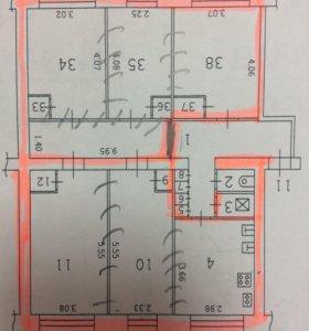 Квартира, 5 и более комнат, 93 м²