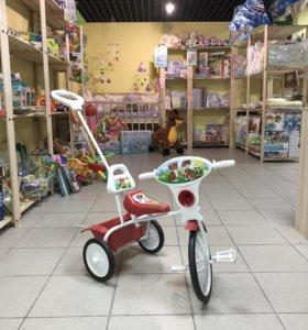 Велосипед с родительской ручкой, новый