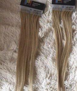 Волосы для наращивания на капсулах , блонд