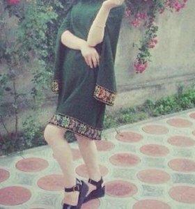 Платье (ткань индийская).Одевала пару раз
