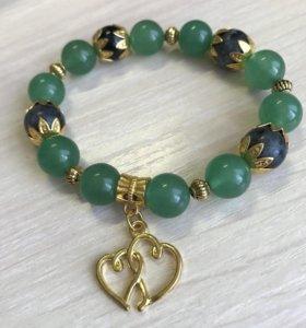 Новые браслеты ручной работы из натуральных камней