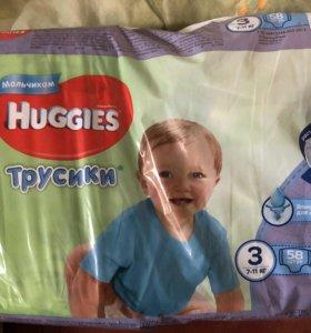 Huggies трусики для мальков 3 , 7-11 кг