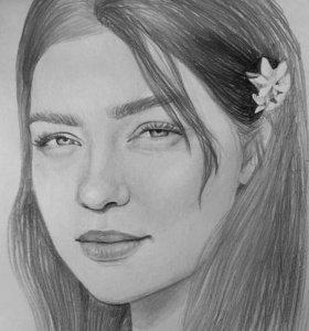 Портреты по фото (Простым карандашом)