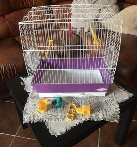 Клетка для попугаев Ферпласт