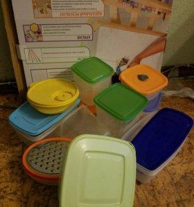 Контейнер пластиковый пищевой ikea tupperware