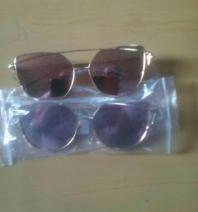 Очки солнцезащитные зеркальные новые