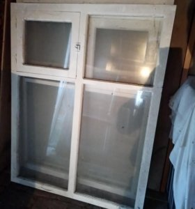 окна деревянные, остекленные