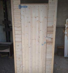 Туалет деревянный вагонка
