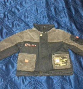 Куртка утепленная вельвет р.74-80