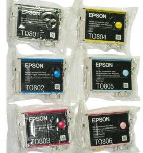 Комплект оригинальных картриджей Epson T0801-T0806