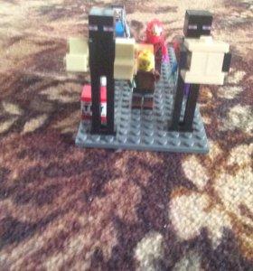 Лего человечки Майнкрафт