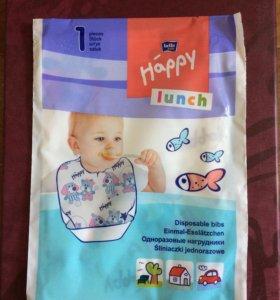 Одноразовые нагрудники с карманом для детей