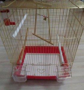 Клетка б/у, для попугая