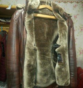 Куртка коженка, меховая