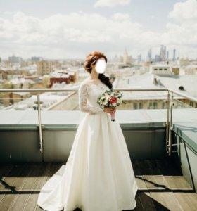 Свадебное платье 42 разм