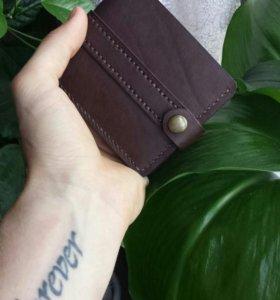 Бамажник из кожи ручной работы