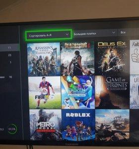 Xbox one 250gb + 11 игр