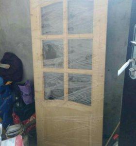 Дверь с коробкой новая деревянная