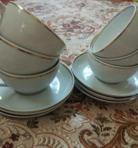 Чайные парочки фарфоровые