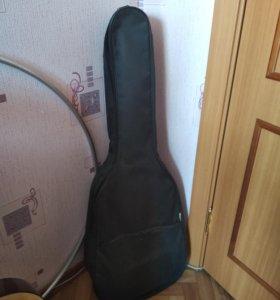 Чехол для гитары и подставка для ноги