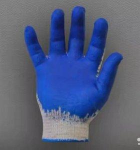 Перчатки Х/Б с одинарным Латексом Оптом