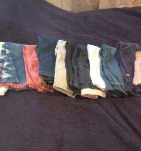 Джинсы брюки +шорты 10 пар