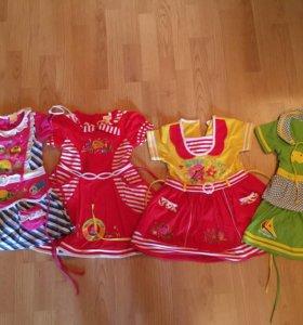 Платье (цена за 4) для девочки короткий рукав