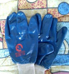 Перчатки рабочие обливные
