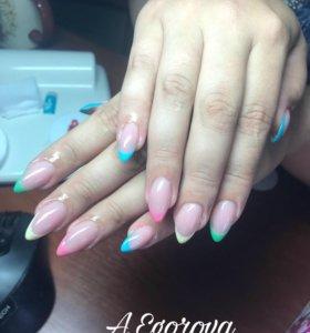 Наращивание и покрытие ногтей шеллаком