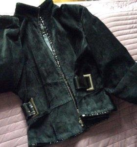 Замшевая куртка 48-50 разм (Италия)