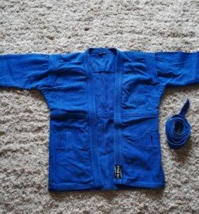 Куртка для самбо синяя ESKHATA