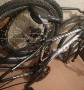 Велосипед стелс, разобранный
