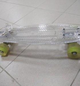 Круизер скейт новый светящаяся платформа
