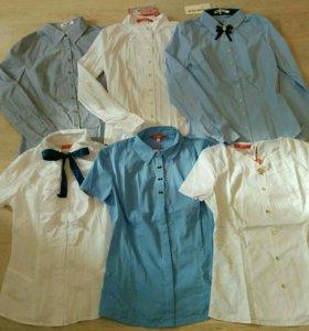 Новые блузки рубашки р.44