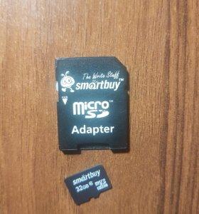 Флешка Micro sd Smartbuy 32 gb
