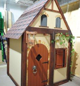 Сказочный деревянный домик для ребенка 2-12 лет