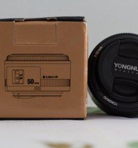 YONGNUO LENS EF 50mm 1:1.8 canon