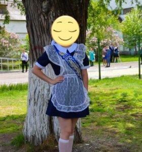 Школьная форма, размер 46-48, цвет-темно синий