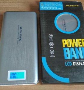Новый портативный аккумулятор 20000 mAh