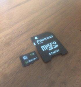 Карта памяти (Micro SD) на 16ГБ (GB)